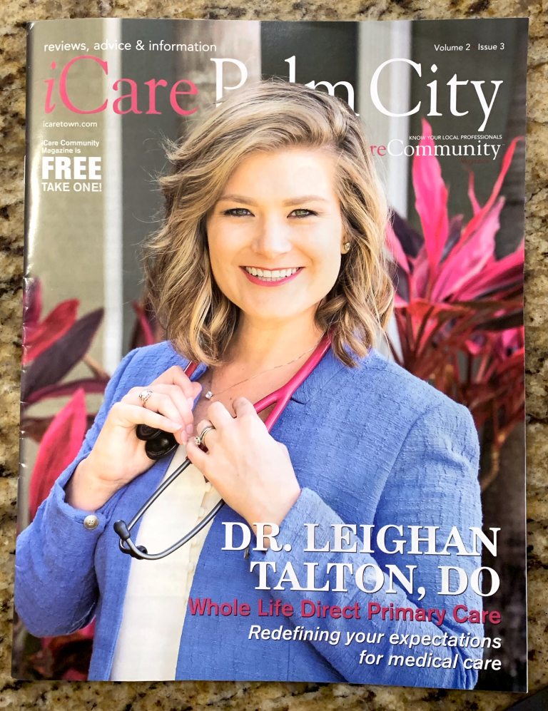 iCare Palm City Community Magazine Cover